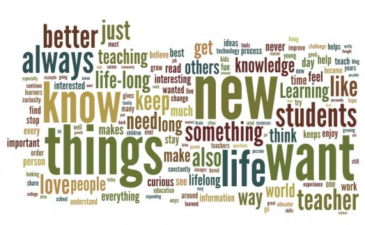 Lifelong learning word cloud
