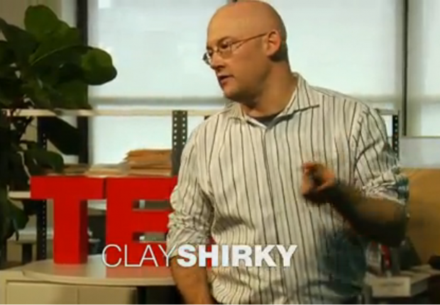 Clay Shirky at the TED offices, January 2012